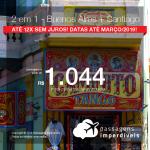 Promoção de Passagens 2 em 1 – <b>Buenos Aires + Santiago</b>! A partir de R$ 1.044, todos os trechos, COM TAXAS! Até 12x SEM JUROS! Datas até Março/2019!