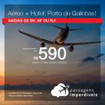 Promoção de PASSAGEM + HOTEL  para <b>PORTO DE GALINHAS</b>! A partir de R$ 590, por pessoa, com taxas!