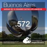 Passagens em promoção para a Argentina: Buenos Aires, com valores a partir de R$ 572, ida e volta, C/ TAXAS INCLUÍDAS!