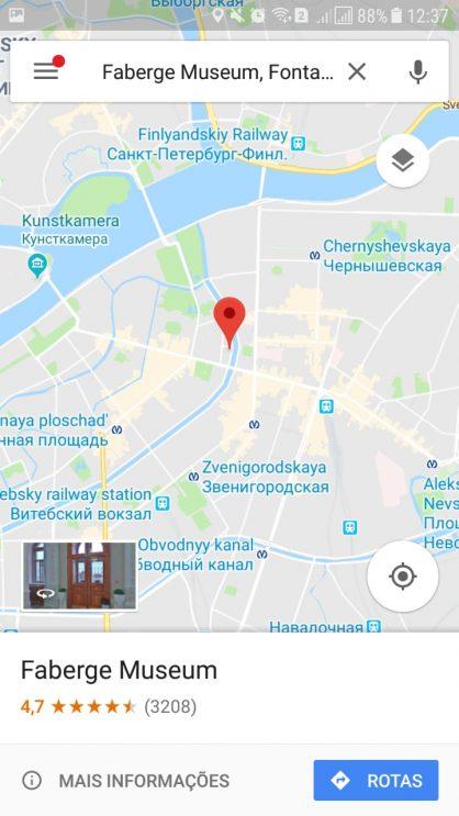 Google Maps para andar na Rússia