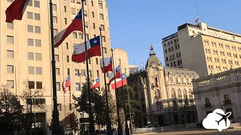 Centro histórico de Santiago, no Chile