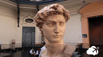 Escultura no Museu Bellas Artes, em Santiago