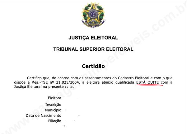 Certidão de Quitação Eleitoral - Como tirar passaporte