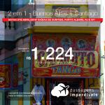 Promoção de Passagens 2 em 1 – <b>Buenos Aires + Santiago</b>! A partir de R$ 1.224, todos os trechos, COM TAXAS! Até Abril/2019! Saídas de Curitiba, Porto Alegre, Rio de Janeiro e São Paulo!