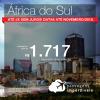 Promoção de Passagens para a <b>África do Sul: Durban ou Joanesburgo</b>! A partir de R$ 1.717, ida e volta, c/ TAXAS!