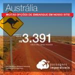 Seleção de Passagens para a <b>Austrália: Melbourne</b>! A partir de R$ 3.391, ida e volta, COM TAXAS INCLUÍDAS!