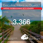 Promoção de Passagens em <b>CLASSE EXECUTIVA</b> para os <b>Estados Unidos: Miami, Orlando</b>! A partir de R$ 3.366, ida e volta, COM TAXAS!