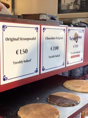 Stroopwafel na Albert Cuypmarket