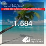 Promoção de Passagens para <b>Curaçao</b>! A partir de R$ 1.584, ida e volta, COM TAXAS! Em até 6x SEM JUROS!