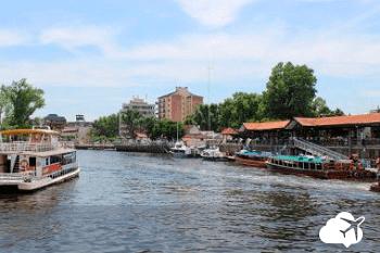 Rio Tigre perto de Buenos Aires