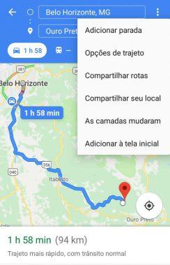 google maps bh outro preto