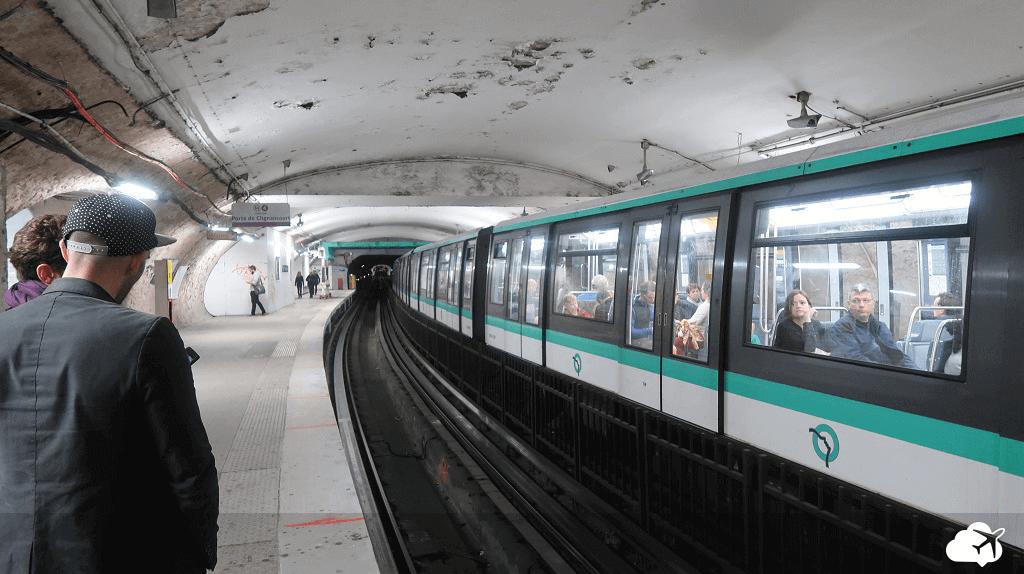 Metrô de Paris na estação