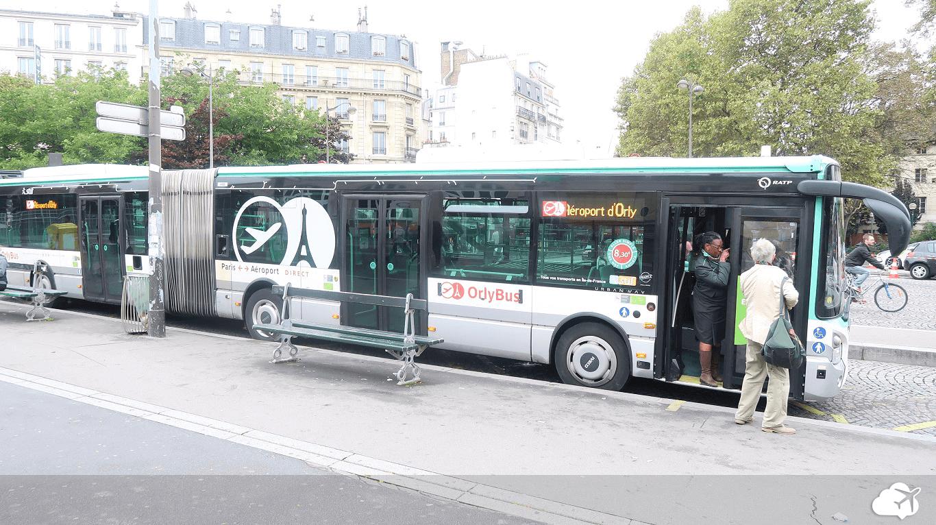 ônibus sair do aeroporto paris