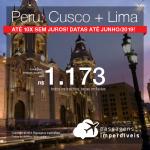 Promoção de Passagens 2 em 1 – <b>PERU: Cusco + Lima</b>! A partir de R$ 1.173, todos os trechos, COM TAXAS! Em até 10x SEM JUROS!