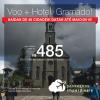 Promoção de PASSAGEM + HOTEL  para <b>GRAMADO, via Caxias ou via Porto Alegre</b>! A partir de R$ 485, por pessoa, com taxas incluídas! Datas até 2019! Saídas promocionais de 48 origens!