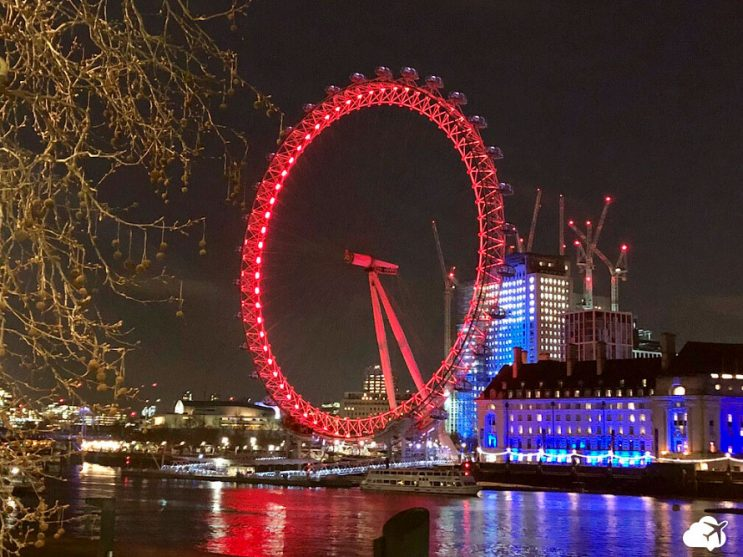 london eye londres a noite