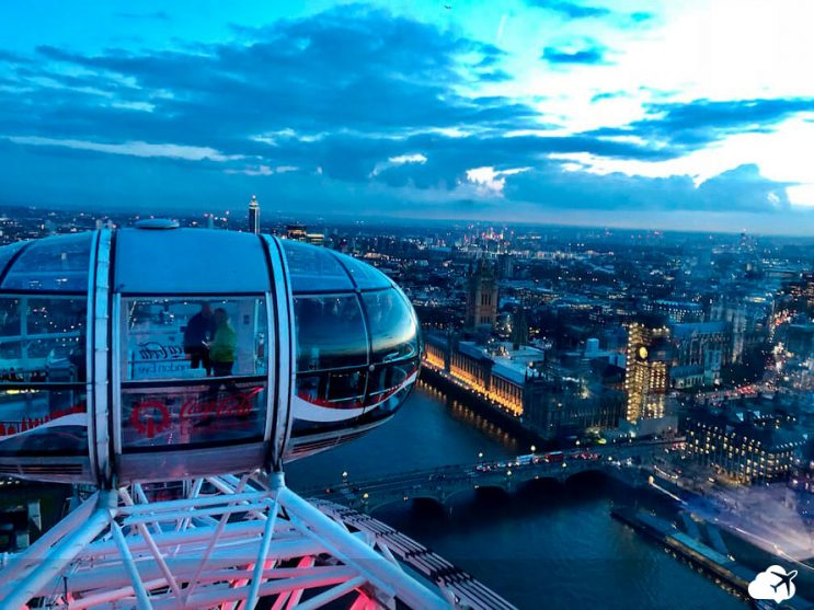 vista london eye londres