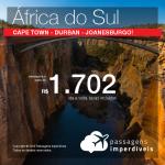 Promoção de Passagens para a <b>ÁFRICA DO SUL: Cape Town, Durban ou Joanesburgo</b>! A partir de R$ 1.702, ida e volta, COM TAXAS INCLUÍDAS, em até 5x SEM JUROS! Datas até 2019!