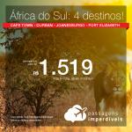 Promoção de Passagens para a <b>ÁFRICA DO SUL: Cape Town, Durban, Joanesburgo ou Port Elizabeth</b>! A partir de R$ 1.519, ida e volta, COM TAXAS INCLUÍDAS!