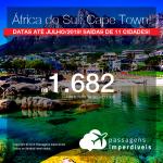 Promoção de Passagens para a <b>ÁFRICA DO SUL: Cape Town</b>! A partir de R$ 1.682, ida e volta, COM TAXAS INCLUÍDAS!