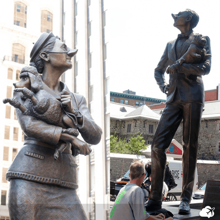 monumento english e french canadians montreal