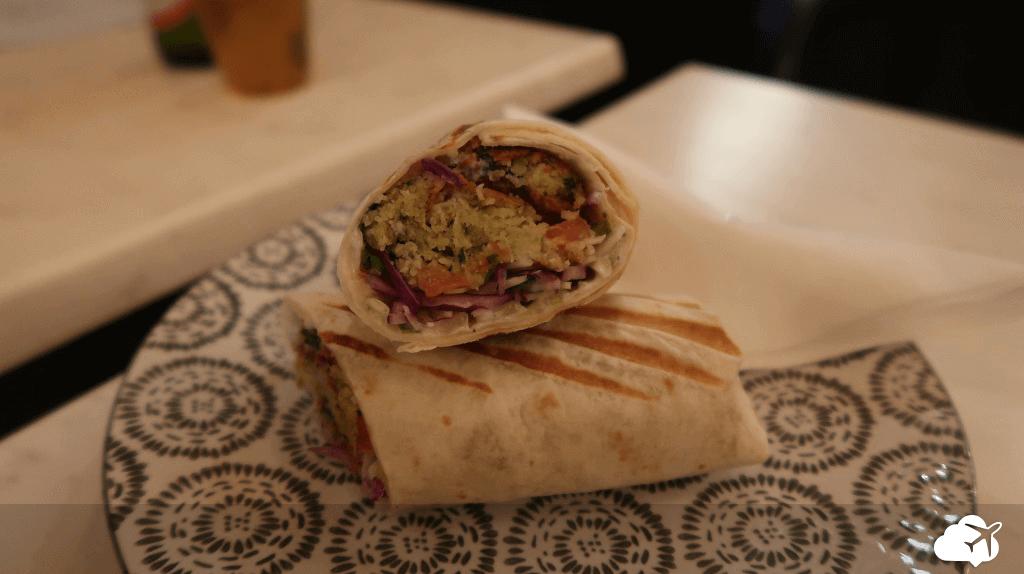 Pão vegetariano no Libshop restaurante libanês em Paris