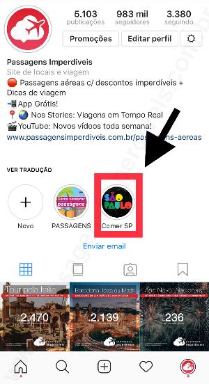Instagram Passagens Impedíveis