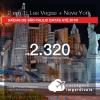 Promoção de Passagens 2 em 1 – <b>LAS VEGAS + NOVA YORK</b>! A partir de R$ 2.320, todos os trechos, COM TAXAS, em até 4x SEM JUROS! Datas até 2019!