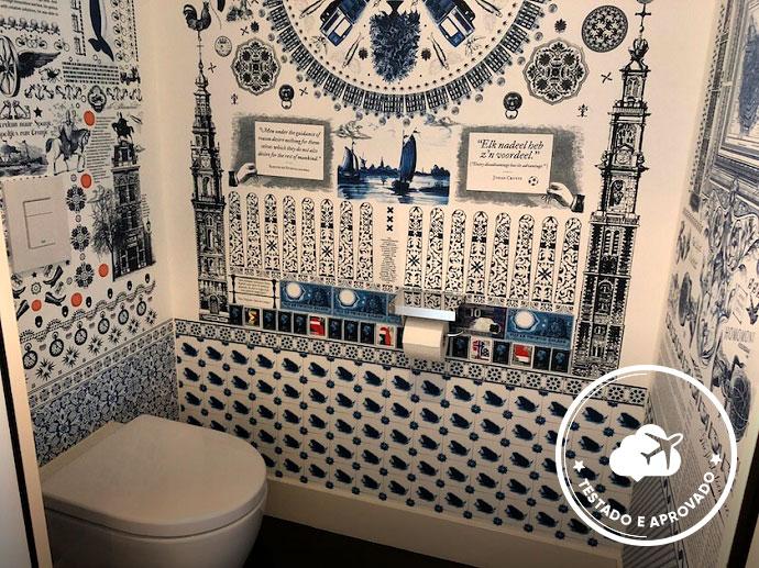 banheiro hotel andaz amsterdam