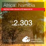 Promoção de Passagens para a <b>ÁFRICA: Namíbia</b>! A partir de R$ 2.303, ida e volta, COM TAXAS INCLUÍDAS! Datas até 2019!