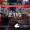 Promoção de Passagens para <b>NOVA YORK</b>! A partir de R$ 2.110, ida e volta, COM TAXAS, em até 6x SEM JUROS! Datas até 2019!
