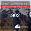 Promoção de Passagens 2 em 1 AMÉRICA DO SUL – <b>Bolívia, Peru ou Uruguai + Argentina ou Chile</b>! A partir de R$ 902, todos os trechos, COM TAXAS, em até 12x SEM JUROS! Datas até 2019!