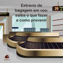 Extravio de bagagem em voo: saiba o que fazer e como prevenir