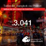 Promoção de Passagens para a <b>TAILÂNDIA: Bangkok ou Phuket</b>! A partir de R$ 3.041, ida e volta, COM TAXAS INCLUÍDAS! Datas para viajar até 2019! Saídas de SP ou Curitiba!