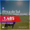 Promoção de Passagens para a <b>ÁFRICA DO SUL: Cape Town, Durban, Joanesburgo ou Port Elizabeth</b>! A partir de R$ 1.485, ida e volta, COM TAXAS, em até 4x SEM JUROS! Datas até 2019!
