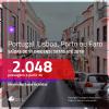 Promoção de Passagens para <b>PORTUGAL: Faro, Lisboa ou Porto</b>! A partir de R$ 2.048, ida e volta, COM TAXAS, em até 6x SEM JUROS! Datas até 2019!