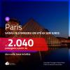 Promoção de Passagens para <b>PARIS</b>! A partir de R$ 2.040, ida e volta, COM TAXAS INCLUÍDAS, em até 6x SEM JUROS! Datas até 2019!
