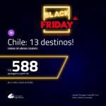 BLACK FRIDAY 2018: Promoção de Passagens para o <b>CHILE: Santiago, Copiapo – Atacama, Puerto Montt e mais</b>! A partir de R$ 588, ida e volta, COM TAXAS INCLUÍDAS! Datas até Setembro/2019!