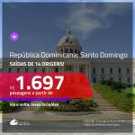 Promoção de Passagens para a <b>REPÚBLICA DOMINICANA: Santo Domingo</b>! A partir de R$ 1.697, ida e volta, COM TAXAS, em até 10x SEM JUROS! Datas até Julho/2019!