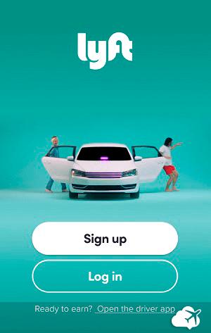 Lyft aplicativo de transporte tipo Uber