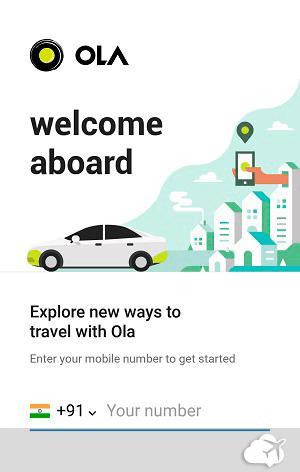 Ola app de transporte tipo Uber