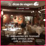 21 restaurantes em Gramado para almoço, jantar, café e chocolate