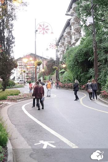 rua torta em Gramado