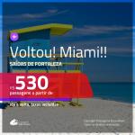 Promoção de Passagens para <b>MIAMI</b>! A partir de R$ 530, ida e volta, c/ taxas!