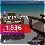 Promoção de Passagens para <b>PUNTA CANA</b>! A partir de R$ 1.536, ida e volta, c/ taxas!