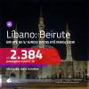 Promoção de Passagens para o <b>LÍBANO: Beirute</b>! A partir de R$ 2.384, ida e volta, c/ taxas!