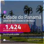 Promoção de Passagens para a <b>CIDADE DO PANAMÁ</b>! A partir de R$ 1.424, ida e volta, c/ taxas!