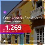 BAIXOU!!! Promoção de Passagens para a <b>COLÔMBIA: Cartagena ou San Andres</b>! A partir de R$ 1.269, ida e volta, c/ taxas!