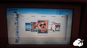 Entretenimento air china viagem para Bangkok