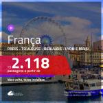 Promoção de Passagens para a <b>FRANÇA: Beauvais, Bordeaux, Lyon, Marselha, Nantes, Nice, Paris ou Toulouse</b>! A partir de R$ 2.118, ida e volta, c/ taxas!